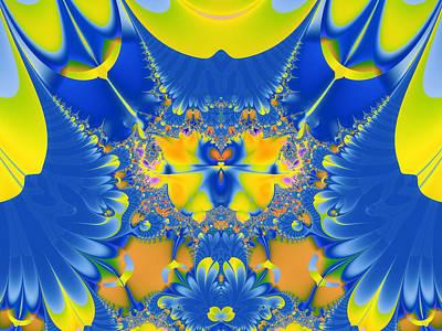 Fractal Owl Print by Ian Mitchell