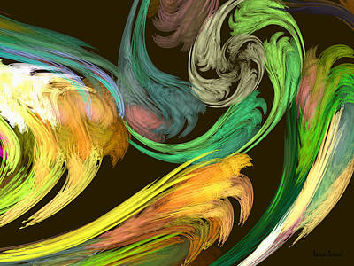 Abstractions Photograph - Fractal - Paisley Closeup by Susan Savad