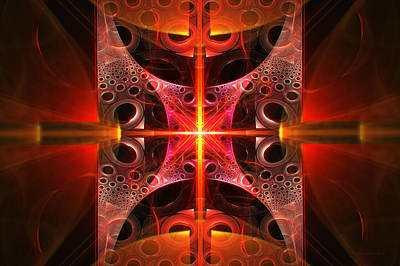 Science Photograph - Fractal - Science - Cold Fusion by Mike Savad