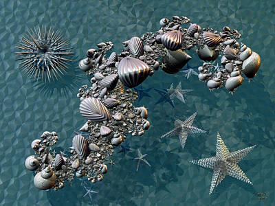 Fractal Sea Life Print by Manny Lorenzo