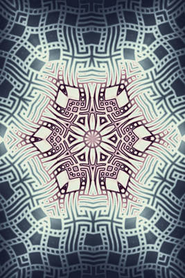 Fraktal Digital Art - Fractal Snowflake Pattern 1 by Hakon Soreide