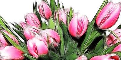 Tulips Digital Art - Fractalius Tulips 4 by Sharon Lisa Clarke
