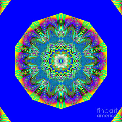 Special Effects Digital Art - Fractalscope 13 by Rose Santuci-Sofranko