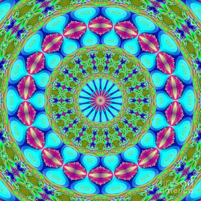 Kaleidoscope Digital Art - Fractalscope 19 by Rose Santuci-Sofranko