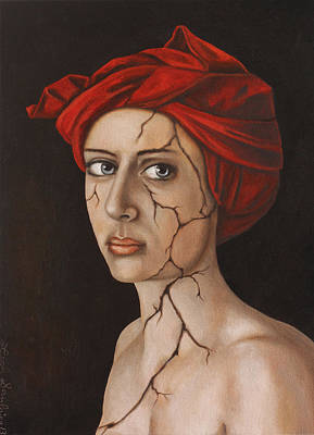 Depression Painting - Fractured Identity Edit 1 by Leah Saulnier The Painting Maniac