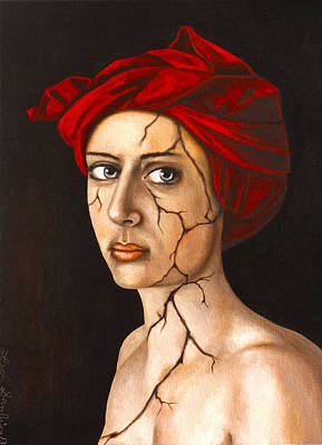 Depression Painting - Fractured Identity Edit 4 by Leah Saulnier The Painting Maniac