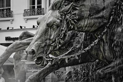 Fragment Of Bartholdi Fountain Print by Oleg Koryagin