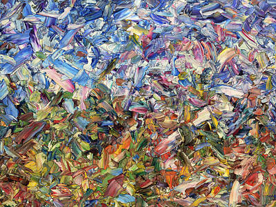 Glass Painting - Fragmented Garden by James W Johnson
