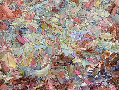 Fluid Painting - Fragmented Hill by James W Johnson