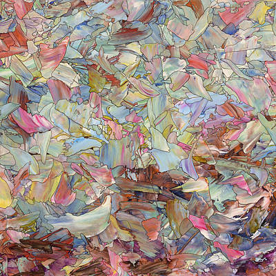Fragment Painting - Fragmented Hill - Square by James W Johnson