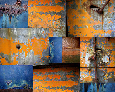 Abstract Collage Photograph - Fragments Antique Metal by Ann Powell