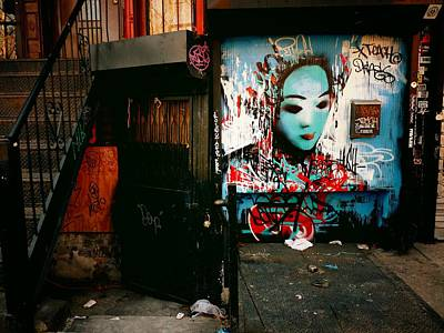 Graffiti Photograph - Fragments - Street Art - New York City by Vivienne Gucwa