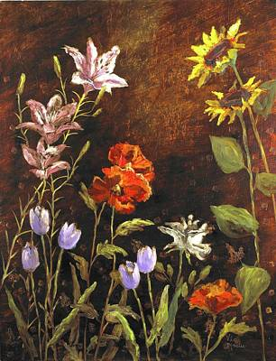 Mo Artist Painting - Fragrant Garden by Vic  Mastis