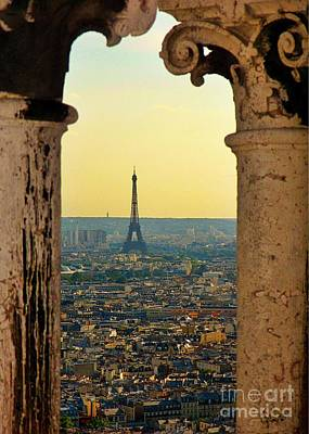 Framing The Eiffel Tower Print by John Malone