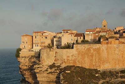 France, Corsica, Bonifacio, Cliffside Print by Walter Bibikow