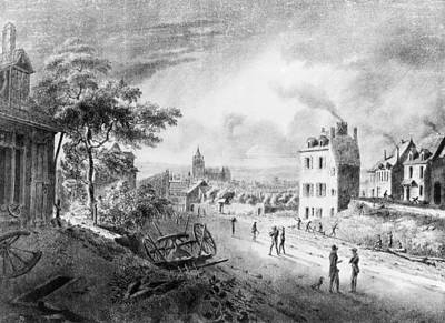 Dirt Roads Drawing - France Franche-comt� Town by Granger