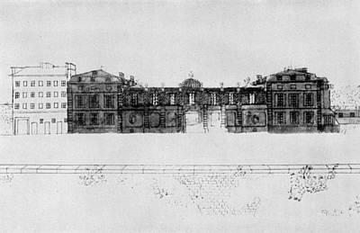 Benjamin Franklin Drawing - France H�tel De Valentinois by Granger