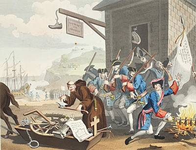 Invade Drawing - France, Illustration From Hogarth by William Hogarth
