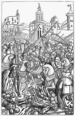 Knights Castle Painting - France Knights, 1364 by Granger