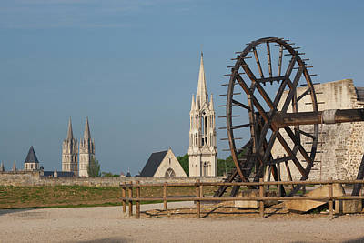 Caen Photograph - France, Normandy, Caen, Chateau De by Walter Bibikow