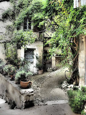Hill Town Photograph - France, Provence, Lacoste by Julie Eggers