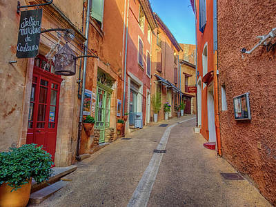 Provence Photograph - France, Provence, Roussillon, Town by Terry Eggers