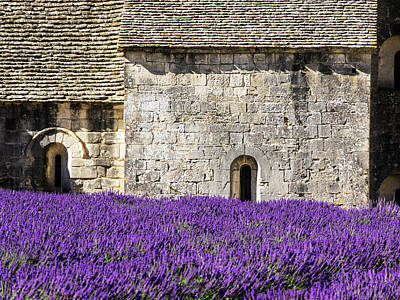 France, Provence, Senanque Abbey Print by Terry Eggers