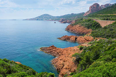 Provence Photograph - France, The Cote D'azur, Also Called by Emily Wilson