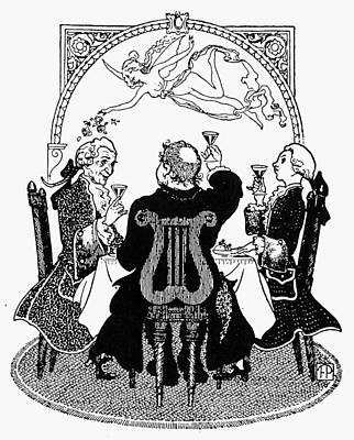 Belle Epoque Drawing - France Toasting by Granger