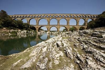 France. Vers-pont-du-gard. Roman Print by Everett
