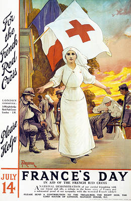 Ww1 Drawing - France's Day by Anonymous