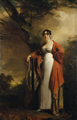 Embroidered Photograph - Frances Harriet Wynne, Mrs Hamilton Of Kames, Before June 1811 Oil On Canvas by Sir Henry Raeburn
