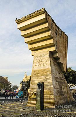 Spain Photograph - Francesc Macia Monument by Deborah Smolinske