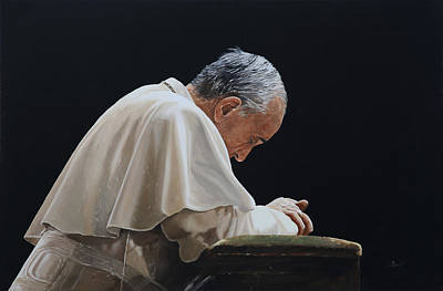 Pope Painting - Francesco by Guido Borelli
