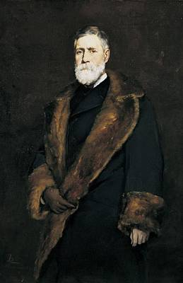 Francis Boott, 1881 Oil On Canvas Print by Frank Duveneck