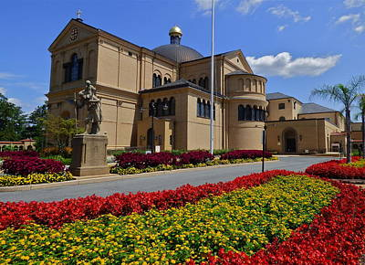 Franciscan Monastery In Washington Dc Print by Jean Doepkens Wright