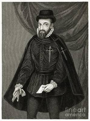 Francisco Pizarro, Spanish Conquistador Print by Middle Temple Library
