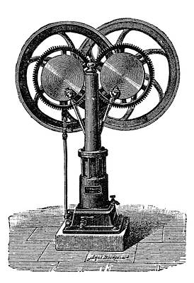 Inverted Photograph - Francois Gas Engine by Science Photo Library