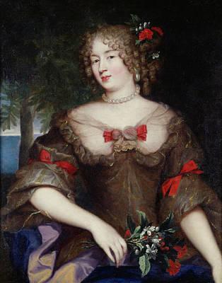 Francoise De Sevigne 1646-1705 Countess Of Grignan Oil On Canvas Print by Pierre Mignard