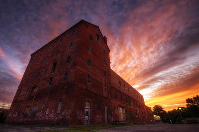 Breweries Photograph - Frank Jones Brewery Sunset by Eric Gendron
