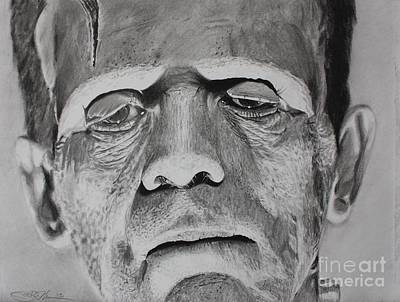 Frankenstein Drawing - Frank by Joshua Navarra