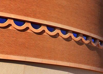 Frank Lloyd Wright Designed Auditorium Window Detail Print by Karyn Robinson