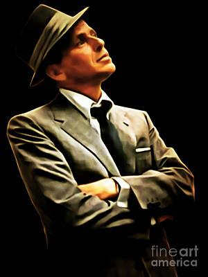 Frank Sinatra Digital Art - Frank Sinatra 20150125brun by Wingsdomain Art and Photography