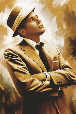 Celebrity Painting - Frank Sinatra Artwork 1 by Sheraz A