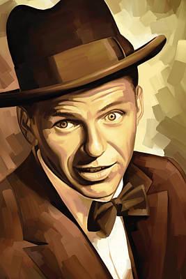 Frank Sinatra Mixed Media - Frank Sinatra Artwork 2 by Sheraz A