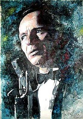 Frank Sinatra Mixed Media - Frank Sinatra At The Sands by Marcelo Neira