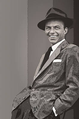 Mob Digital Art - Frank Sinatra by Daniel Hagerman