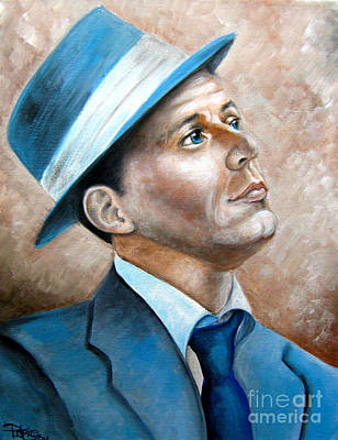 Frank Sinatra Ol Blue Eyes Print by Patrice Torrillo