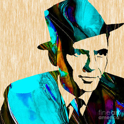 Frank Sinatra Paintings Print by Marvin Blaine