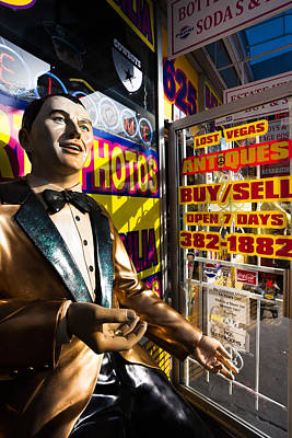 Frank Sinatra Photograph - Frank Sinatra Statue, Las Vegas by Panoramic Images